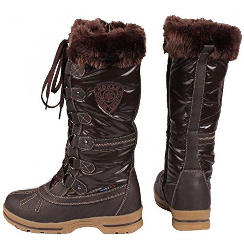 Horka Equestrian Damen Thermo Winter wasserdichten Outdoor Muck Boots, braun