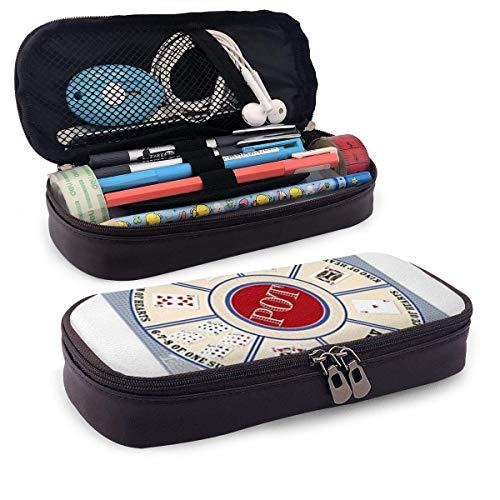 Neues Kartenspiel Fabric Rummy Royal Game Leder Mäppchen Schreibtisch-Organizer Schlampermäppchen Storage Bag Stiftetasche Federmäppchen Für Schule Büro