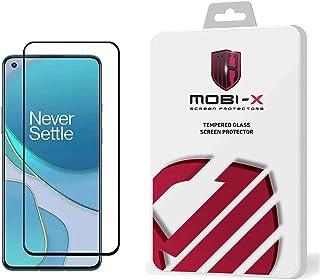شاشة حماية 5d لموبايل ون بلس 9R من موبي اكس، باطار اسود - شفاف