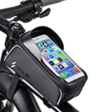 Bicycle Phone Bag, Bike Front Frame Holder Case Bags, Outdoor Mountain Sports Storage Bag, with Touch Screen Waterproof, Fits Phones Below 6.5 inches iPhone Xs max 11 11 max 11 pro max