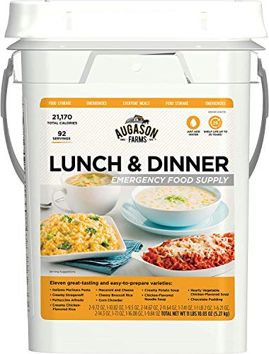 Our #5 Pick is the Augason Farms Lunch and Dinner Emergency Food Supply