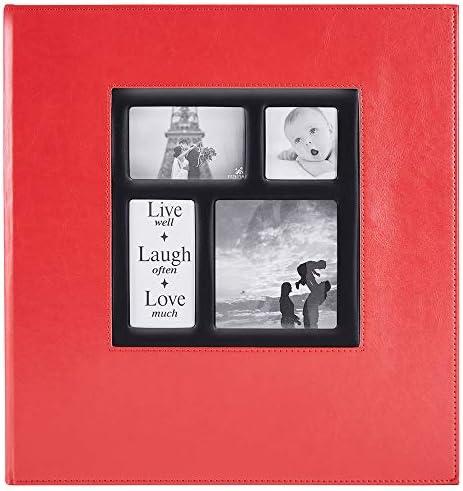 Ywlake Photo Album 1000 Pockets 6x4 Photos Extra Large Size Leather Cover Slip in Wedding Family product image