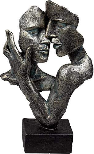 Lifestyle & More Exklusive Deko Büste Skulptur Liebespaar aus Kunststein Antikfarben Höhe 32 cm