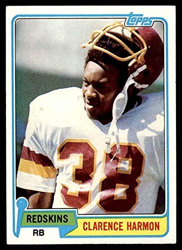 1981 Topps # 391 Clarence Harmon Washington Redskins (Football Card) EX/MT Redskins Miss St
