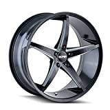 Touren TR70 3270 BLACK Wheel with Painted Finish (18 x 8. inches /5 x 112 mm, 35 mm Offset)
