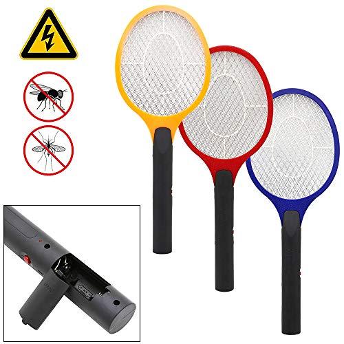 wolketon 3X Elektrische Fliegenklatsche Fliegenfänger Mücken-Falle Insektenvernichter mit Herausnehmbaren Batterien, Ideal für Drinnen und Draußen