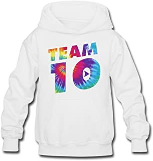 Aliensee Youth Colorful Team 10 Hoodie Sweatshirt Suitable for 10-15yr old 7ea10753f