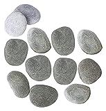 Garden Rocks 2-2.8 pulgadas Regalo for niños y adultos Roca al aire libre Artrocks Pintura suave Piedra acuario decorativo grava roca bonsai rocas guijarros Guijarros ( Size : 5-7cm(12pcs) )