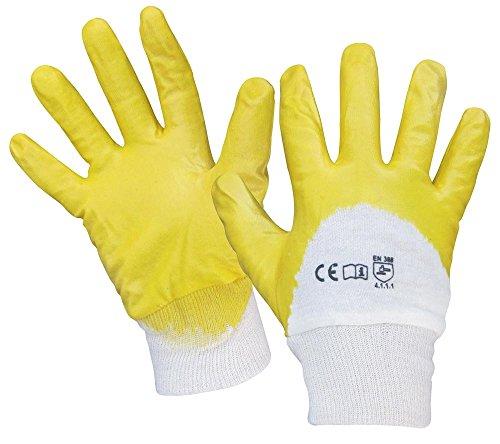 Feldtmann 0550-10H Handschuhe Gr.10, YELLOWSTAR NITRIL MIT Strickbund, Gelb