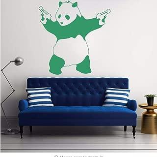 liubeiniubi Wall Sticker Newest Large Bad Panda Wall Sticker Gangster Guns Wallpaper Vinyl Art Decal for Bedroom Decoration 55X55CM