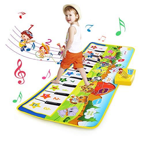 BelleStyle Alfombra de Piano, Alfombra Musical para Bebé, Estera de Piano Musical...