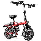 DREAMyun Bicicleta Electrica Plegables, 400W/48V Motor Bicicleta Plegable 25km/h, Bici Electricas Adulto con Ruedas de 14', Asiento Ajustable, para Adolescentes y Adultos,50km