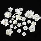 Luz de la luna de la estrella 20pcs / lot botón blanco flor de la resina de la joyería DIY Botones Accesorios metálicos for los Botones bolso de la boda decoración decorativos de la ropa