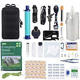 GRULLIN Equipo de Kits de Supervivencia de Emergencia, 60 en 1 para Exteriores IFAK Trauma Pouch Kits de Herramientas de...