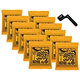 12 Sets of Ernie Ball 2222 Nickel Hybrid Slinky Electric Strings (9-46) w/Free