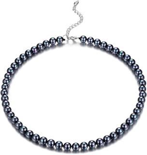 Beaded Strand Pearl Choker Necklace - Fashion Jewelry Birthday Gifts for Women