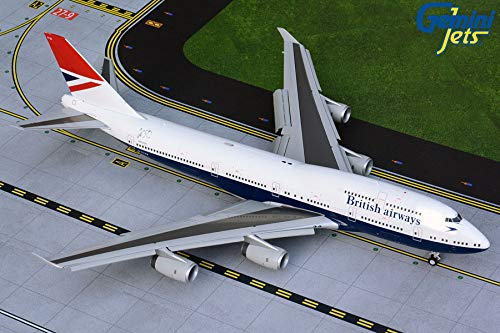 Boeing 747-400 British Airways Negus Retro Livery Flaps/Slats Extended Scale 1/200