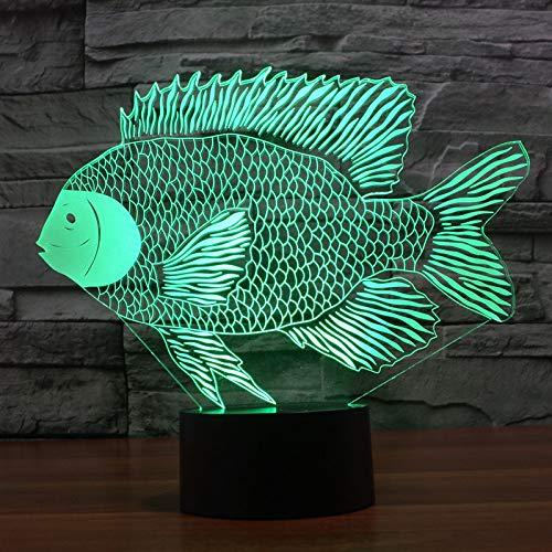 MCJDF Papiersnijvis 3D verlichte kleurrijke noten-kosten geleid kijkgeschenk-tafellamp draadloze bureaulamp