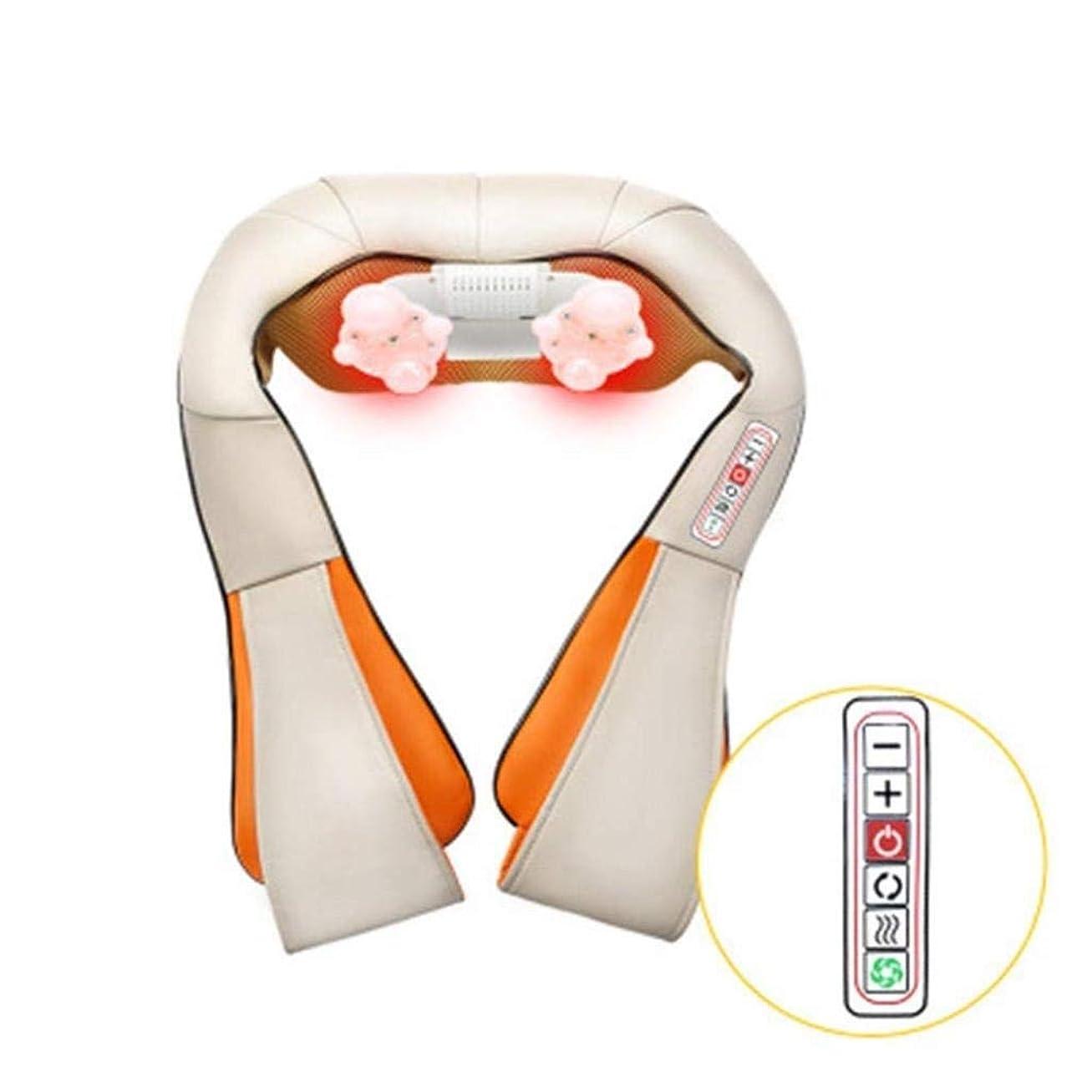 日付付きスティック韻首のマッサージャー、首と背中の肩のマッサージャー、揉みマッサージ枕、足のマッサージ - 緊張の筋肉を和らげる、血液循環、睡眠を改善する (Color : White)