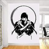 LovelyHomeWJ Vinilo Tatuajes de Pared Ninja con Cuchillo Espada Japón Guerrero japonés Pegatinas de Pared Decoración de Interiores Diseño Mural extraíble 74x57cm