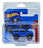 Hot Wheels 21 Ford Bronco (azul) 3/10 Entonces y ahora 2021 - 100/250 (tarjeta corta) GRX28 **Viene en una funda protectora para guardamanos de coche KLAS**