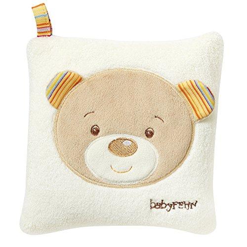 Fehn 160932 Kirschkernkissen Teddy – wohltuendes Wärme- und Kältekissen mit süßer Teddy Applikation für Babys und Kleinkinder ab 0+ Monaten – Maße: 16 x 16 cm