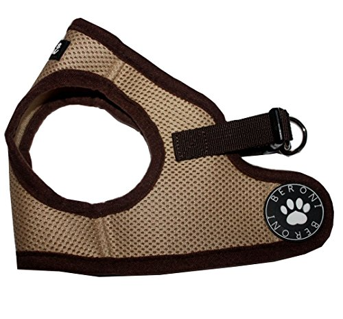 Beroni Brustgeschirr Hundegeschirr Harness Westengeschirr Jacket beige-braun Größe XSS-L (M)