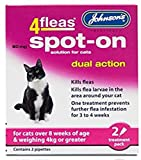 Leeway JOHNSONS 4FLEAS CAT - DUEL ACTION SPOT ON - +8 WEEKS ABOVE 4KG WEIGHT (X1 PACK)