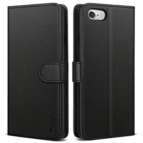 Vakoo Serie Wallet Custodia Cover per iPhone 6, Cover iPhone 6S, Nero