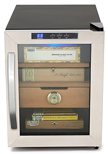 Whynter CHC-120S Stainless Steel 250-Cigar Cooler, 1.2 Cubic Feet Humidor, Black