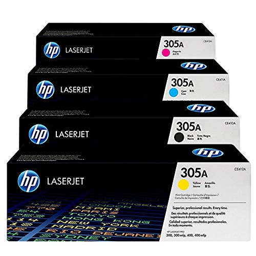 H-P Original 305A Black, Cyan, Yellow, Magenta Toner Cartridge Set CE410A / CE411A / CE412A / CE413A for HP Laserjet Pro M451/M475