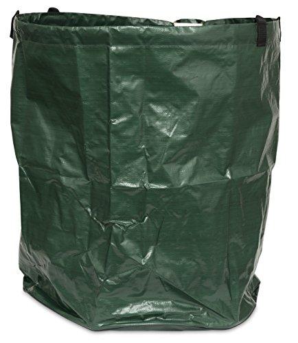 Gartenbag 80 L, Gartensack, Gartentasche, Gartenabfallsack, Laubsack faltbar platzsparend, grün, 200 g/m², Durchmesser 45 x 50 cm, 06779