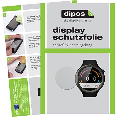 dipos I 6X Schutzfolie matt kompatibel mit Motorola Moto 360 Sport Folie Bildschirmschutzfolie