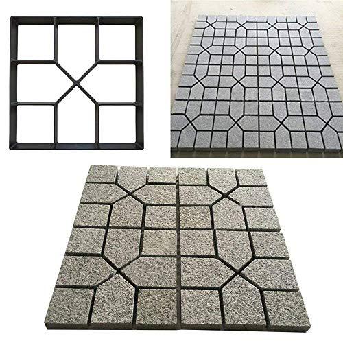 RISTHY Molde de Pavimentación-Molde de Cemento Molde para Hormigón,Hacer Pavimentos/Suelos de Jardín/Caminos,DIY Molde Concreto de Piedra (40×40cm)