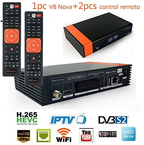 GTMEDIA V8 nova supports iptv H.265 LAN vs freesat v8 super gt media v8 nova hevc receptor de satélite