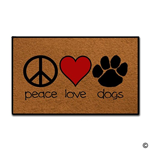 MsMr Entrance Doormat - Funny and Creative Doormat - Peace...