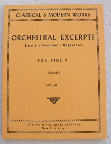 Orchestral Excerpts From the Sym...
