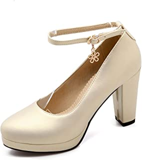 BalaMasa Womens APL12398 Pu Platform Heels