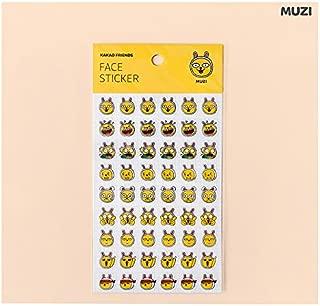 Kakao Talk Kakao Friends Emoji Face Stickers: Ryan, Apeach, Neo & Frodo and Muzi (Muzi)
