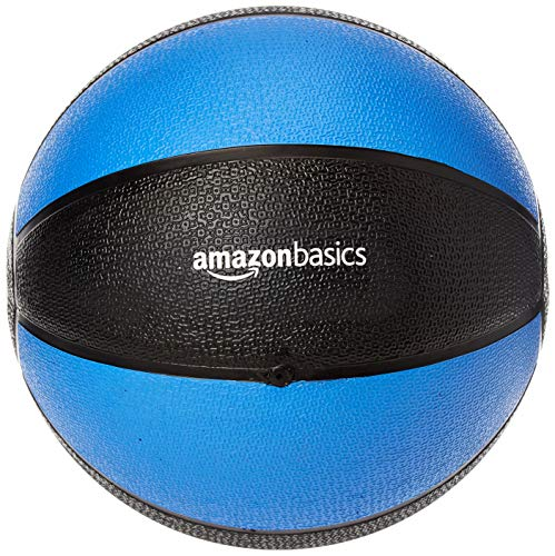 Amazon Basics Workout Fitness Exercise Weighted Medicine Ball - 10 Pounds, Blue and Black