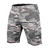 Muscle Alive Hombres Shorts Cargo Cámping Excursionismo Camuflaje Vendimia 100% algodón Pantalones Cortos