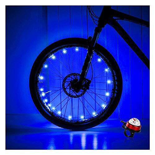 OuYezy 2-Tire Pack LED Bike Wheel Lights Waterproof Multi Color Bike Spoke Light Safe Tire Accessories for Night Riding Bike Decorations and Kids Bike Lights for Wheels (Blue)