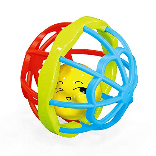 WEQQ Baby Hand Catching Ball 0-3 Years Old Soft Rubber Fitness Ball Rattle Toy multicolor