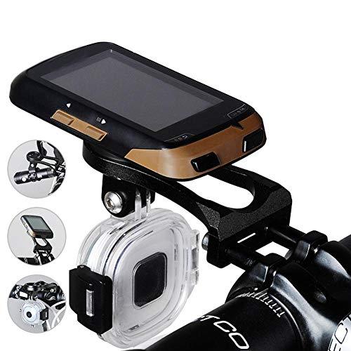 Eastbuy Soporte para computadora de Bicicleta - Soporte de Soporte de GPS para Bicicleta de Metal Duradero para Bicicleta Compatible con Garmin Cateye Bryton(Negro)