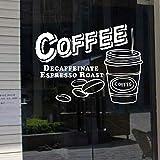 Leche té cafetería café helado pan pastel cocina pared arte calcomanía decoración del hogar 26 * 35 cm