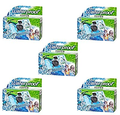 Fujifilm Quick Snap Waterproof 35mm Fuji Disposable / Single Use Underwater Camera (5 Pack) by FUJIFILM