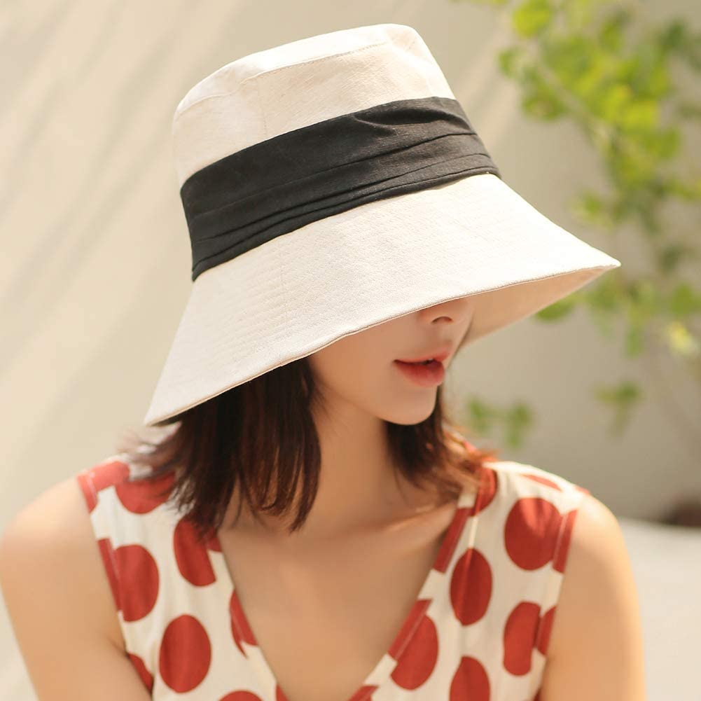 Comhats Summer Fishing Beach Gardening Hiking Bucket Sun Hat Wide Brim for Women UPF 50+ Sun UV Protectable Foldable Packable