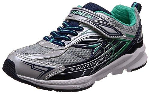 [シュンソク] スニーカー 運動靴 幅広 軽量 16~25cm 3E キッズ 男の子 SJJ 4410 9240 シルバー 20 cm