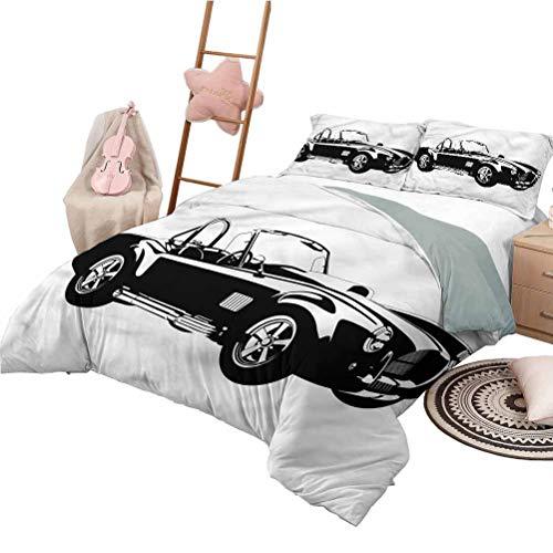 Nomorer Juego de edredón, tamaño Queen, Colcha Liviana para Dormitorio, para Todas Las Estaciones, Motor Deportivo Roadster
