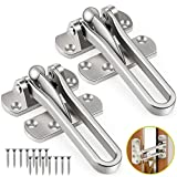 YOUKCDT 2 PCS Door Security Guard Front Door Swing Barfor Child Safety, Heavy Duty Door Security Chain Restrictors Latch Bar Lock Bolt Gate Latches to Protect Against Forceful Entry and Intruders